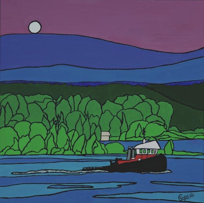Fraser River Night Tug